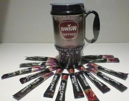 20 oz Wawa Travel Coffee Thermal Mug!!  BONUS  1 Single Serv