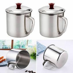 200/380ML Camping Mug Stainless Steel Metal Travel Drinking