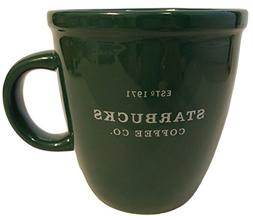 Starbucks 2001 Barista Coffee Mug: Green with Silver Letteri