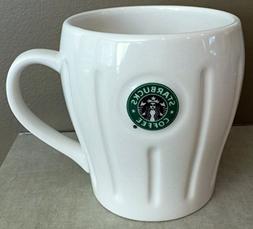 Starbucks 2003 Pleated Logo Mug Siren/Mermaid - White, 18 fl