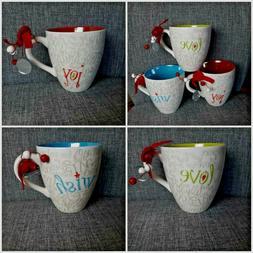 Starbucks 2005 Holiday Joy Love Wish Mugs--Set of 3 or Indiv