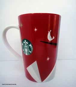 Starbucks 2012 Holiday Red Cup Mug Bird 12 fl ozl Coffee Tea