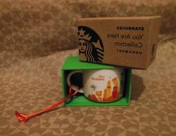 "Starbucks 2013 Los Angeles ""You Are Here"" 2 oz. Mini Mug Orn"