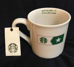 2015 Starbucks Military Mug Proudly Serving Those Who Serve