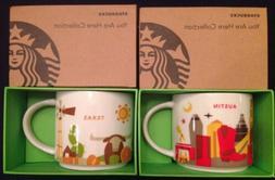 2015 Starbucks You Are Here Mugs Austin & Texas Coffee Cups
