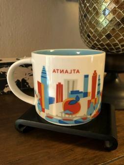 STARBUCKS 2015 You Are Here YAH ATLANTA Coffee Mug Mint NWOT
