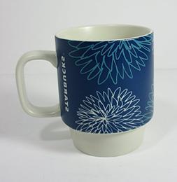 2016 Starbucks Blue Floral Mug 12Oz