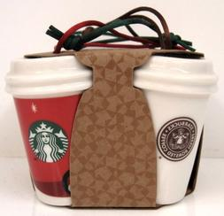New Starbucks 2016 Siren Logo History 4 Pack Set Ceramic Chr