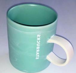 2020 Starbucks Valentines Mug Tiffany Blue Mint Marble Shimm