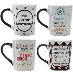 Funny 20oz Ceramic Coffee Mug Cat Dog Retirement Gag Gift fo