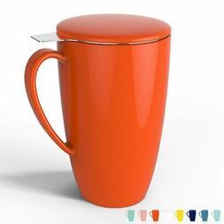 Sweese 2105 Porcelain Tea Mug with Infuser and Lid Brew Tea