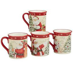 Certified International 22823SET4 Holiday Wishes 18 oz. Mugs