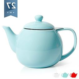 Sweese 2308 Teapot, Porcelain Tea Pot with Stainless Steel I