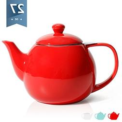 Sweese 2309 Teapot, Porcelain Tea Pot with Stainless Steel I