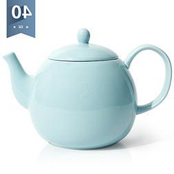 Sweese Porcelain Teapot, 40 Ounce Tea Pot - Large Enough for