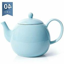 2311 Teapots Porcelain Teapot, 40 Ounce Pot - Large Enough F