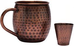 Melange 24 Oz Antique Finish Copper Barrel Mug for Moscow Mu