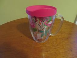 Tervis 24 Oz Insulated MUG With PINK Lid  FLAMINGOS     NEW
