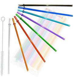 24oz, Rainbow Colored Replacement Acrylic Straw Set of 8 /Wi