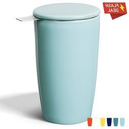 Sweese 2502 Porcelain Tea Infuser Mug - Double-Walled Insula