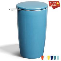 Sweese 2503 Porcelain Tea Infuser Mug - Double-Walled Insula