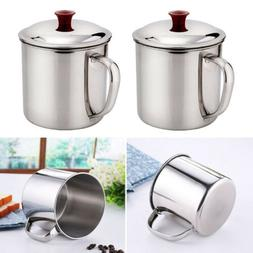 280/400ML Stainless Steel Camping Mug Cup Outdoor Drinking C