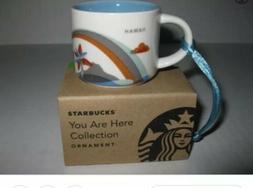 Starbucks 2oz Demitasse Hawaii You Are Here Mini mug Ornamen