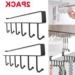 2PACK 6Hook Under Shelf Coffee Cup Mug Holder Hanger Rack Ca