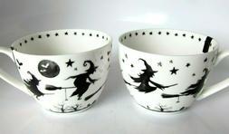 2x Portobello Halloween Flying Witch Broom Brew Coffee Tea C