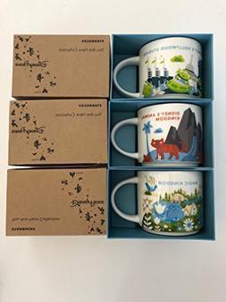 3 Mug Set:Animal Kingdom+Magic Kingdom + Hollywood Studios Y