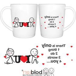 BOLDLOFT 3 Words for You Couple Coffee Mugs|Couple Gifts for