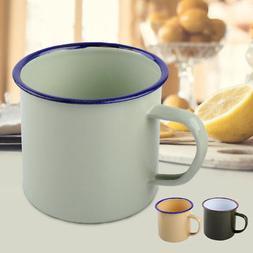 300ml Vintage Style Enamel Cup Mug for Drinking Coffee Bear