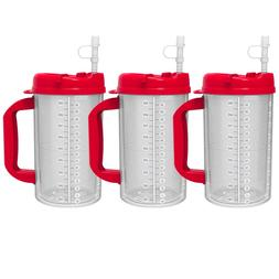 32 oz Red Double Wall Insulated Hospital Mug - Cold Drink Tr