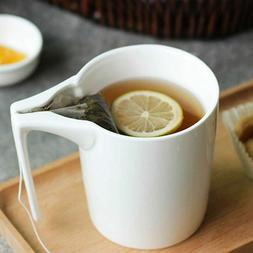 330 ml Ceramic Mug with Tea Bag Holder Special Slotted Cup f