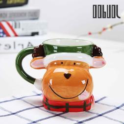 JOUDOO 350ML Cartoon Christmas <font><b>Mugs</b></font> Elk