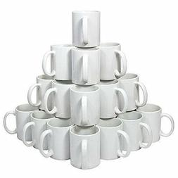 Blank 11 oz White Mugs for Sublimation Heat Press - 36 piece