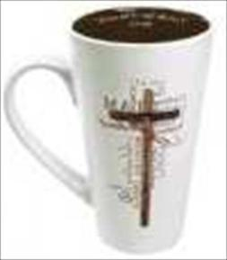 Christian Art Gifts 369944 Mug Names Of Jesus Cross Brown In