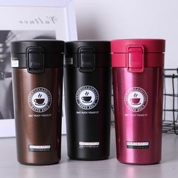 380ML Travel Coffee Cup Tumbler Stainless Steel Coffee Tea B