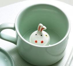 3D Coffee Mug Cute Cartoon Handmade Animal Inside 8 OZ Milk