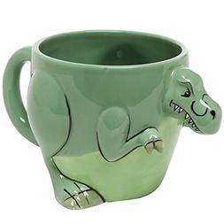 3-D Shaped T-Rex Dinosaur Design Ceramic Mug / Novelty Cup /