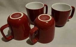 4 New Corelle Chelsea Rose 10 oz Coffee Tea Cups Mugs Red wi