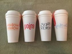 4 sets17oz Travel Coffee Cup/Mug Reusable, Dishwasher & Micr