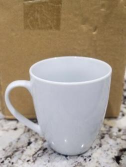 10 Strawberry Street 4 White Coffee Mugs New In Box