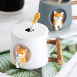 420ml Cute Dog Ceramic Coffee Or <font><b>Tea</b></font> <fo