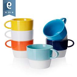Sweese 4314 Porcelain Cappuccino Cups - Stackable Coffee Cup