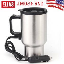 450ml 12V Car Electric Heated Mug Water Bottle Cup 60°CFor