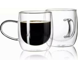 Sweese 4602 Glass Coffee Mugs - 12.5 oz Double Walled Insula