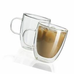 Sweese 4602 Glass Coffee Mugs - 12.5 oz Double Walled Insula