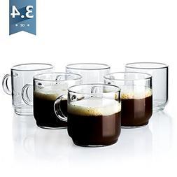 Sweese 4699 Espresso Cups with Handle - Single Walled Borosi