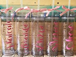 5 Bridesmaid Acrylic Tumblers
